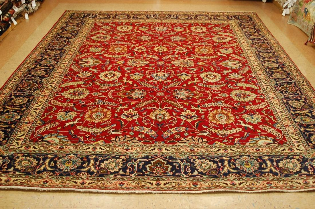 Highly Detailed Persian Tabriz Rug 9.10x13