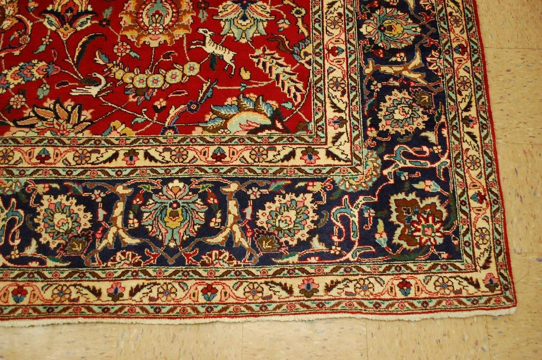Highly Detailed Persian Tabriz Rug 9.10x13 - 2