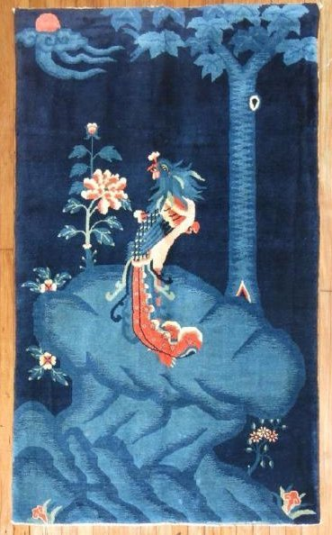 Vintage Tibetan Or Chinese Peking Rug 3.7x5.10