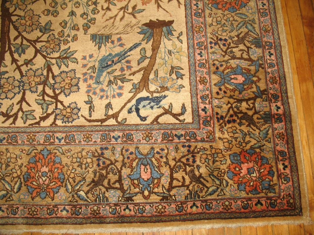Antique Pictorial Persian Tabriz Kashan Rug 9x11.8 - 5