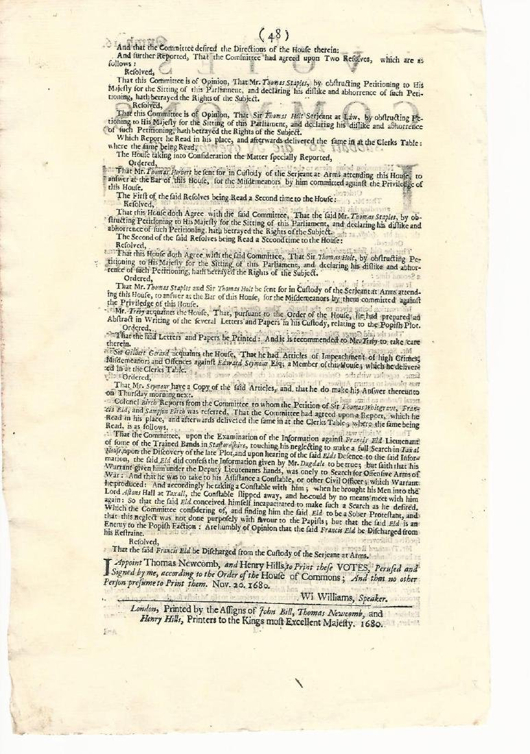 1680 Newspaper Plot to Overthrow King Charles II - 2