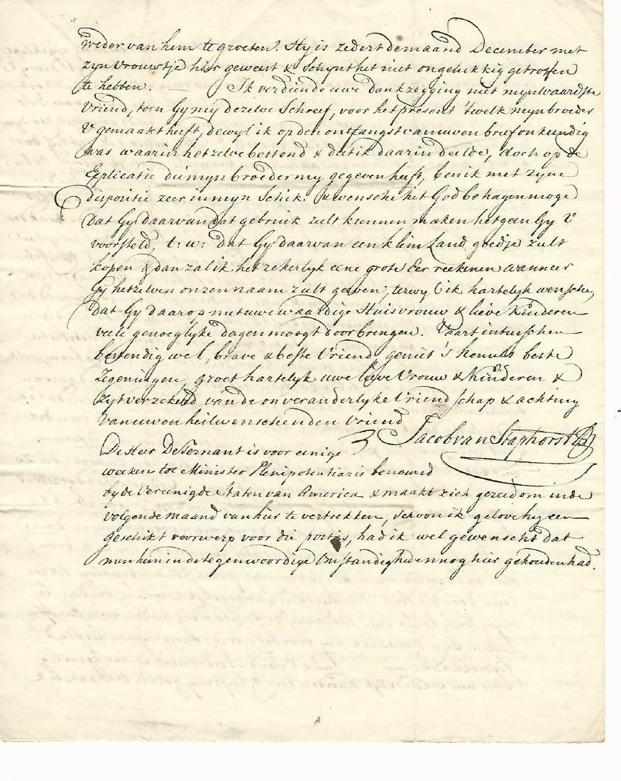1791 Interesting Letter in Dutch - 2
