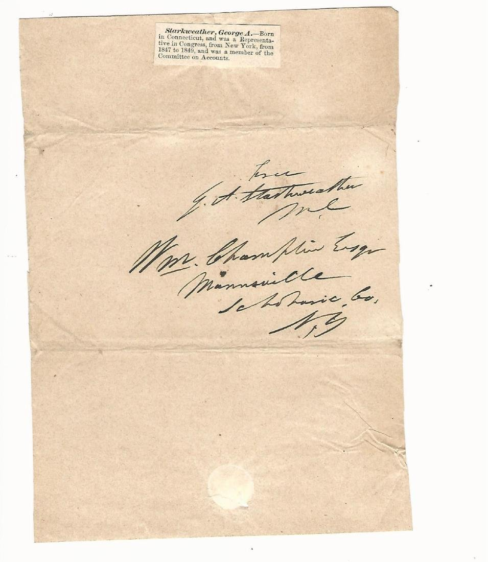 Autograph Lot American Secretary of War
