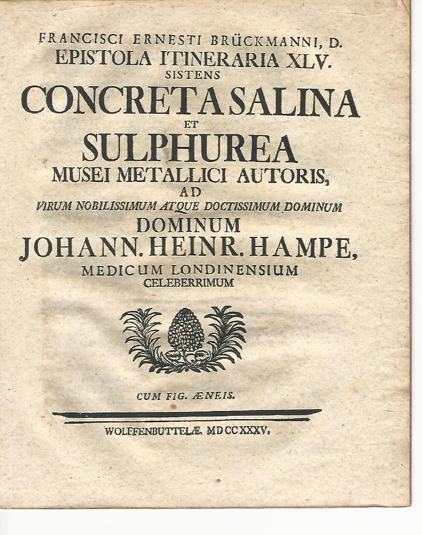 1734 Epistola Itineraria Minerals Folding Plate - 2