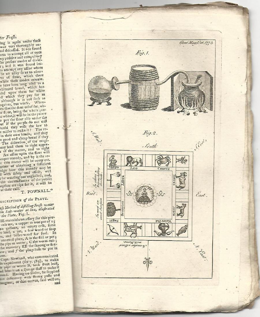 1773 Gentleman's Magazine Original Blue Wrapper Voyages