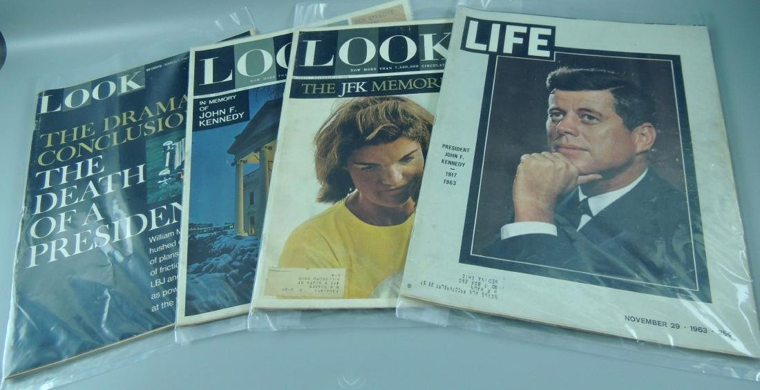 LOOK & LIFE 1960's & '70's All Kennedy 4 Issues