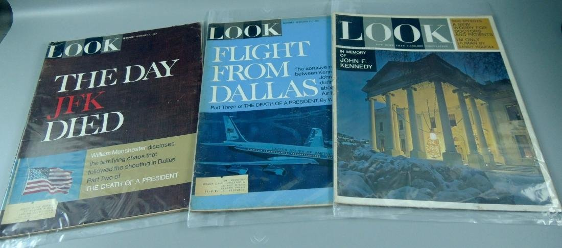 LOOK 1960's All Kennedy 3 Issues