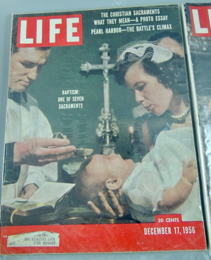 LIFE 1956, 2 Issues, Pear Harbor & Olympics - 2