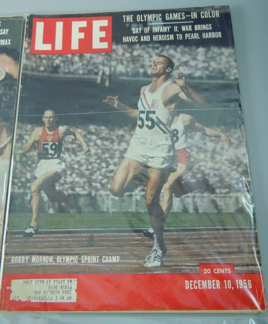LIFE 1956, 2 Issues, Pear Harbor & Olympics - 3