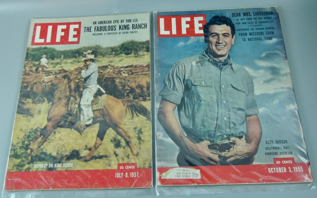 LIFE 1955 & '57, 2 Issues, Rock Hudson
