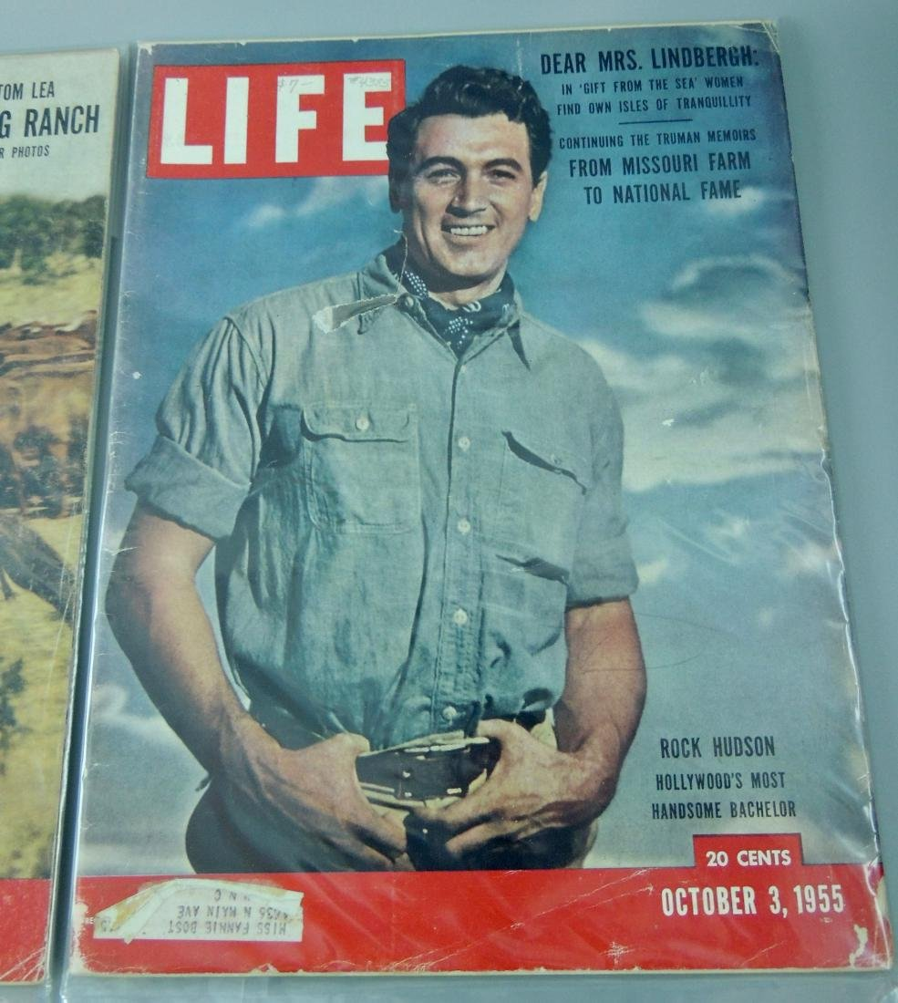LIFE 1955 & '57, 2 Issues, Rock Hudson - 3