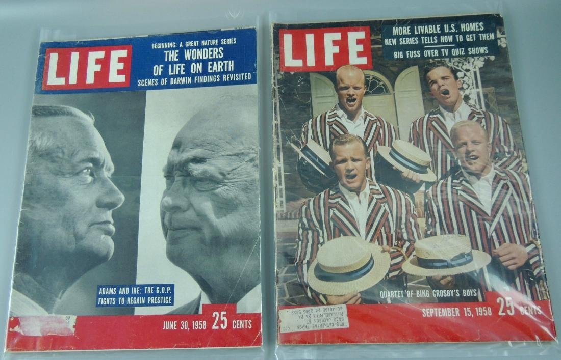LIFE 1958, 2 Issues, Adam & Ike
