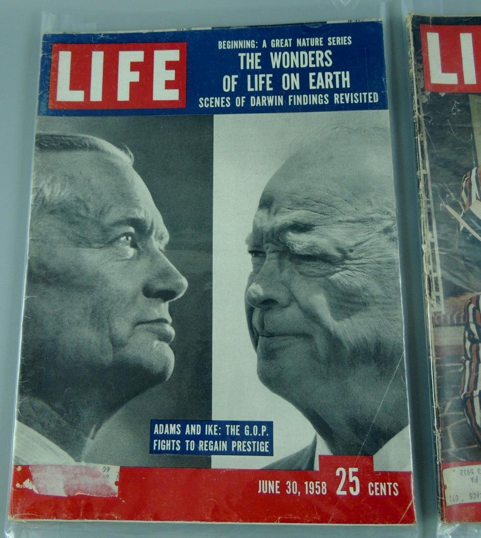 LIFE 1958, 2 Issues, Adam & Ike - 2