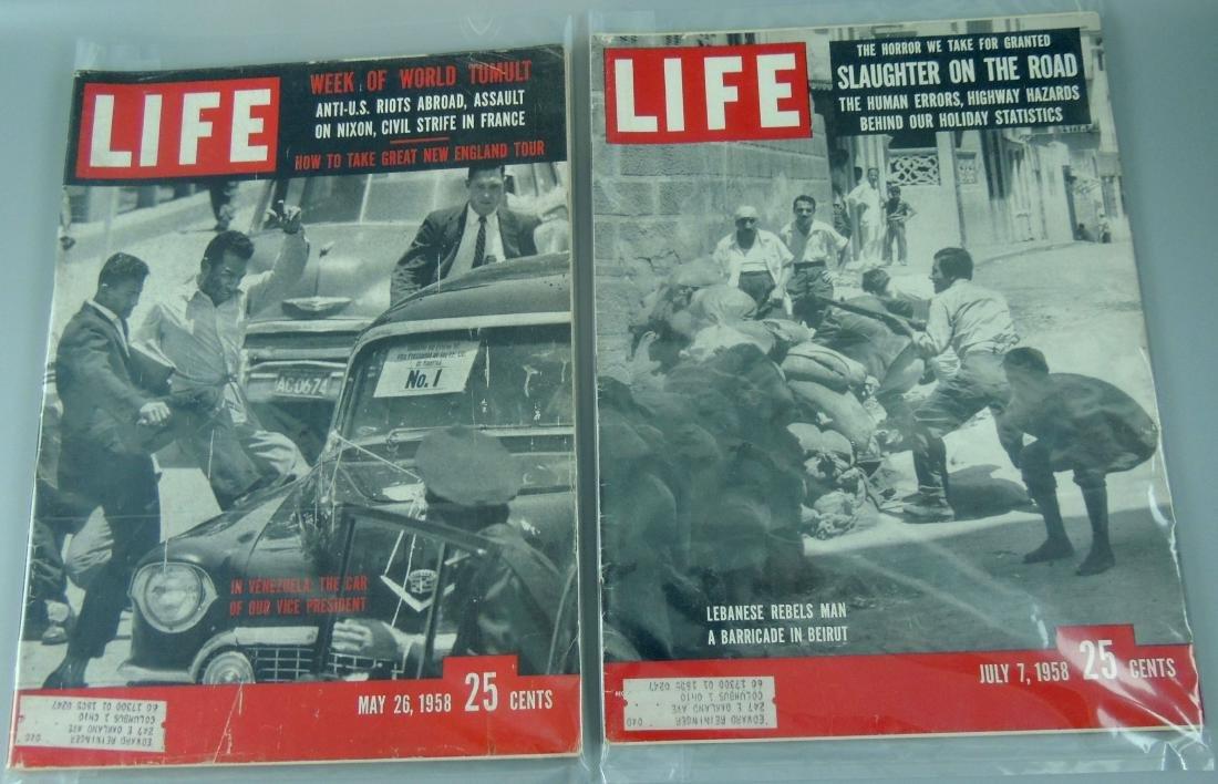 LIFE 1958, 2 Issues, Week of Tumult