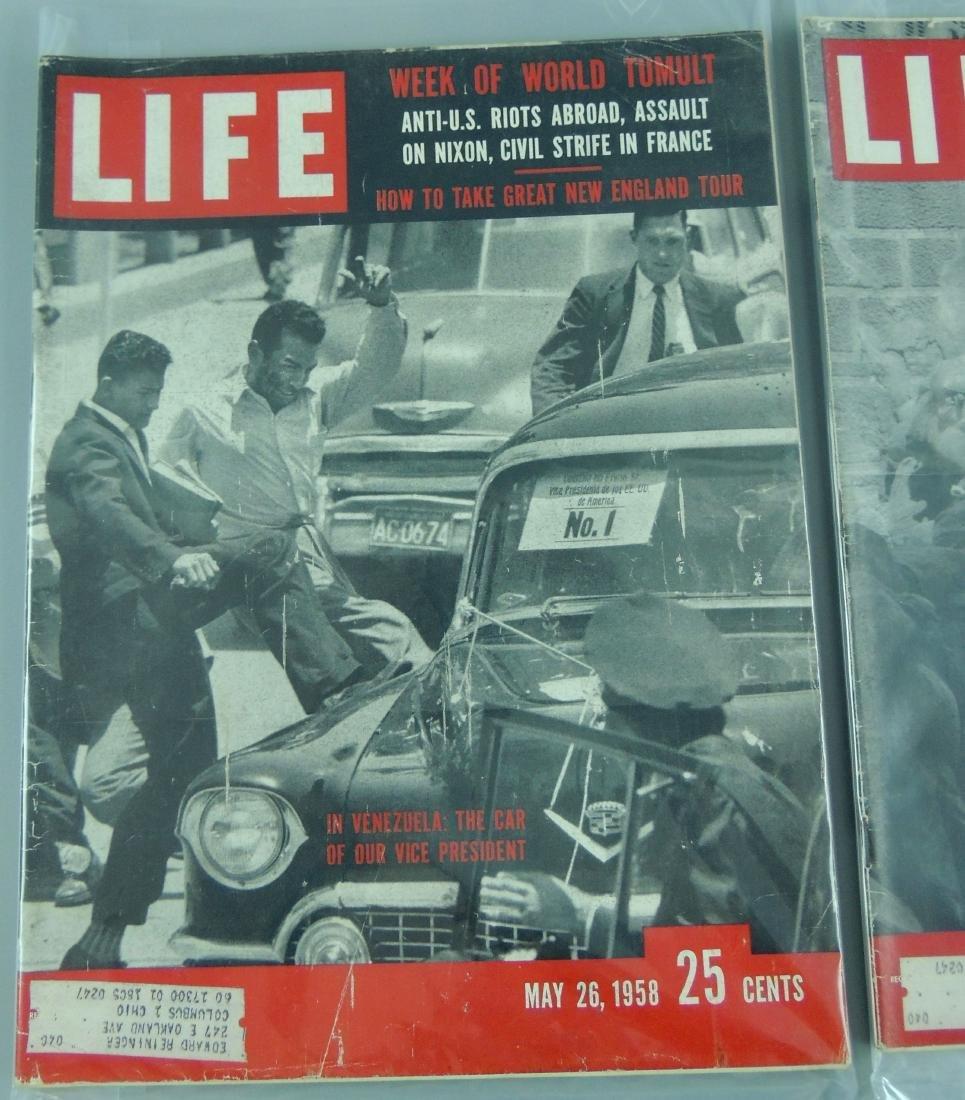 LIFE 1958, 2 Issues, Week of Tumult - 2