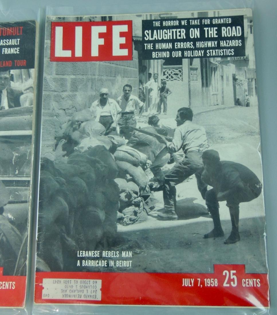 LIFE 1958, 2 Issues, Week of Tumult - 3