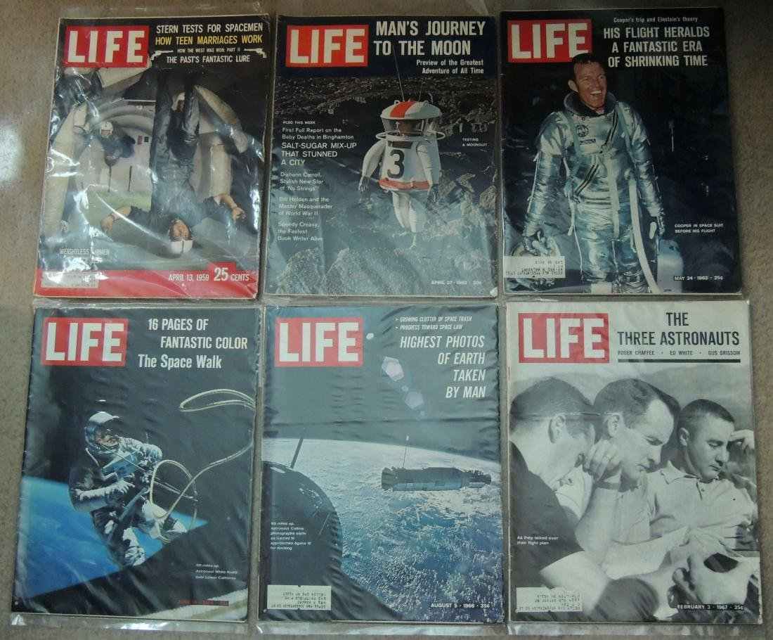 LIFE 1959, '60's & '70 Man on Moon, 19 Issues - 2