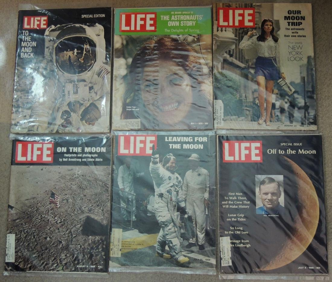 LIFE 1959, '60's & '70 Man on Moon, 19 Issues - 4