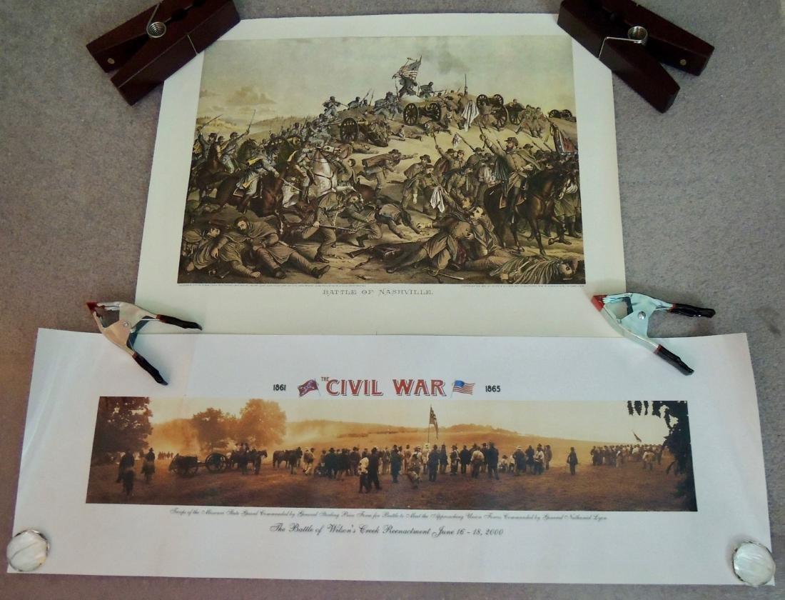 Civil War Battle Litho Print, Lot of 2