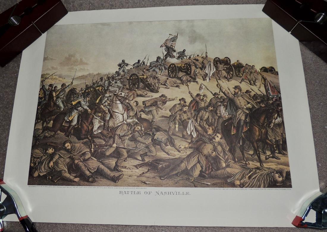 Civil War Battle Litho Print, Lot of 2 - 2