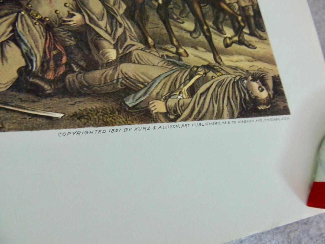 Civil War Battle Litho Print, Lot of 2 - 5