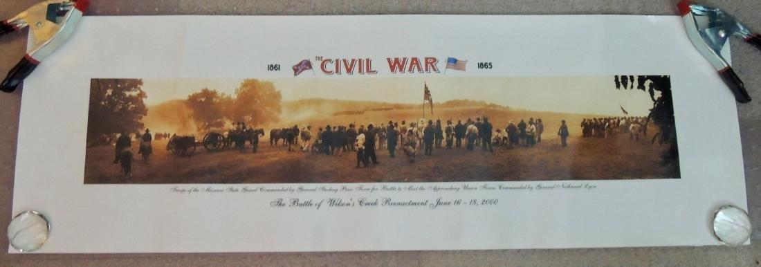 Civil War Battle Litho Print, Lot of 2 - 6
