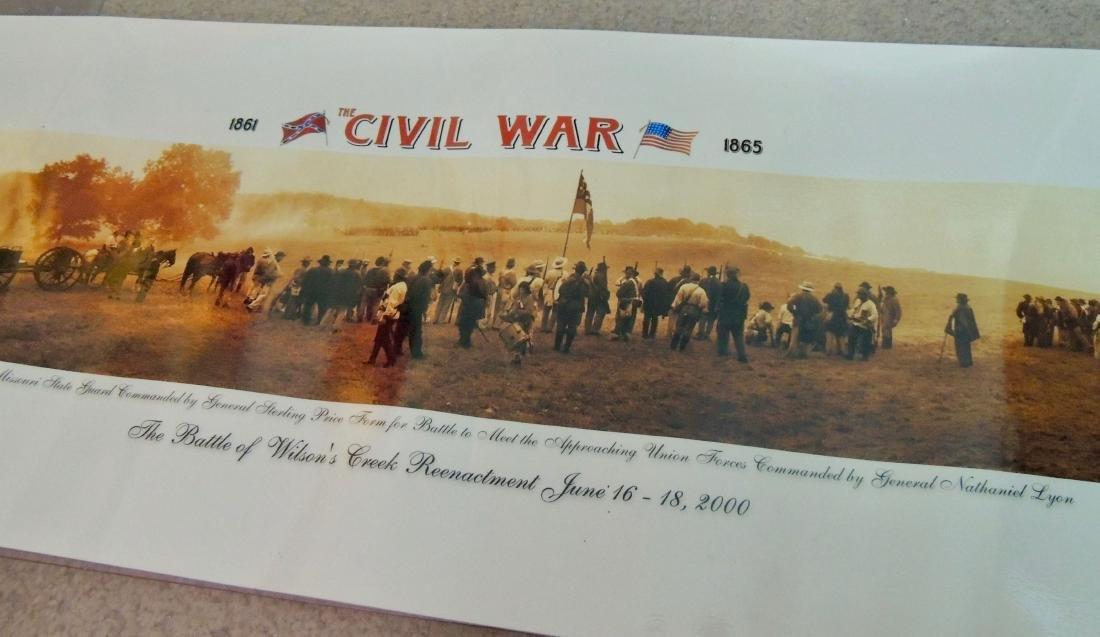 Civil War Battle Litho Print, Lot of 2 - 7