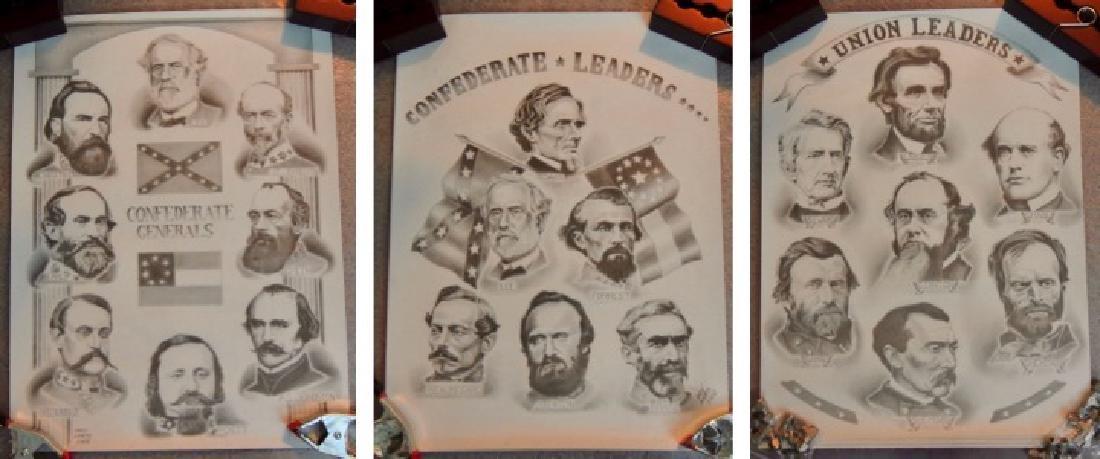 Civil War General & Leaders Prints, Lot of 14