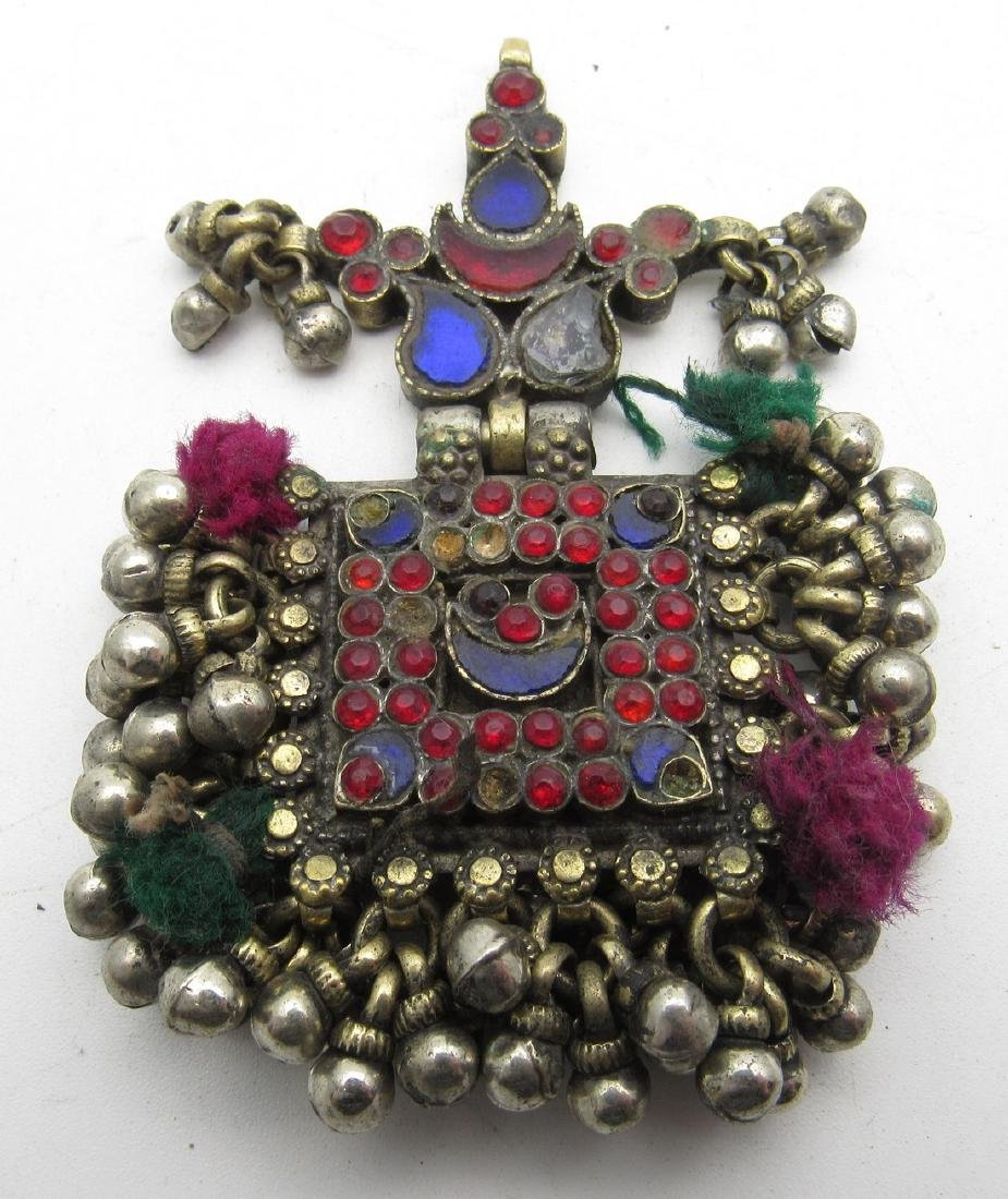 Elaborately Decorated Tribal Bedouin Yemeni Pendant - 2
