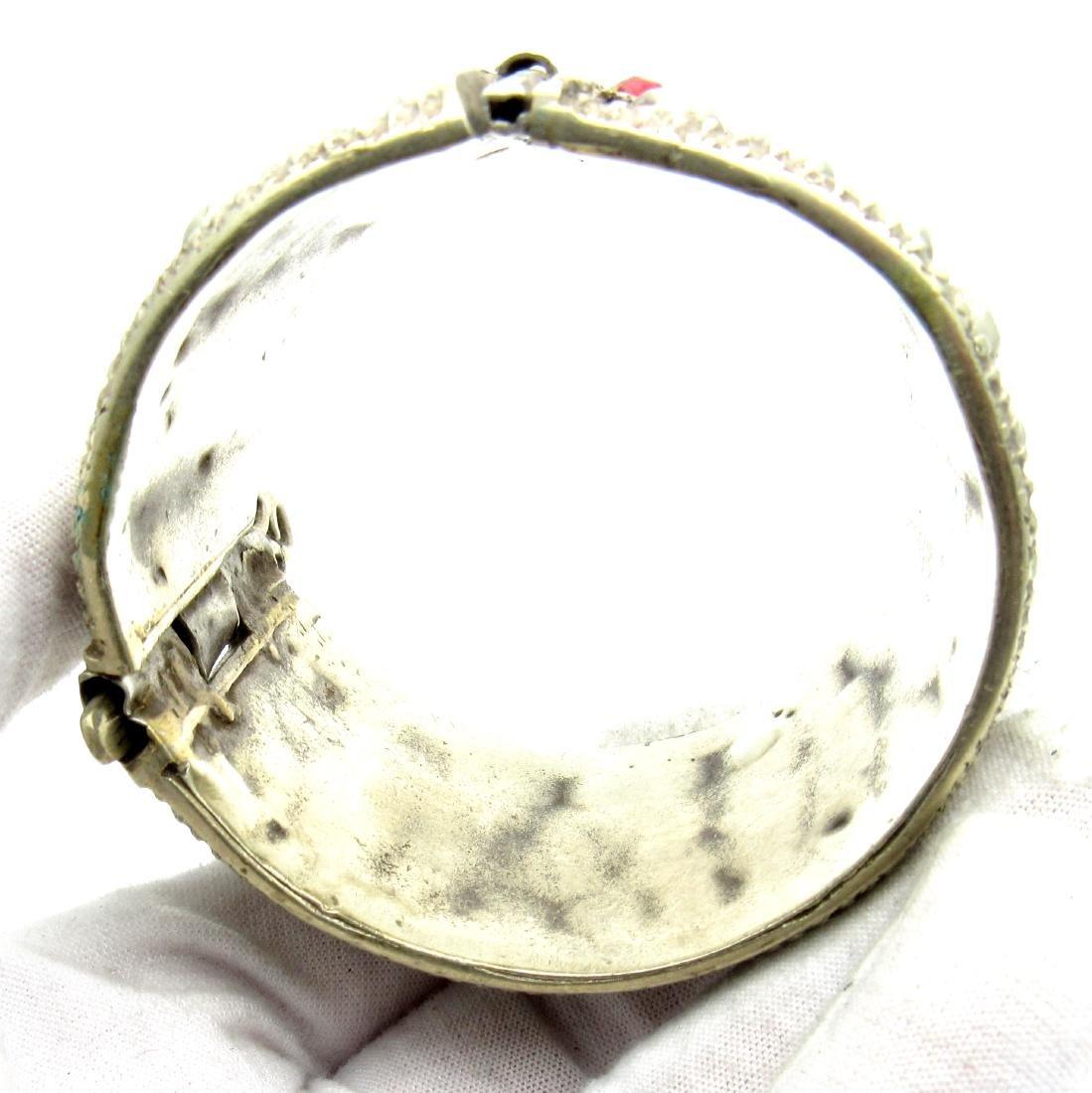 Vintage Bedouin Yemeni Wide Bracelet - 3