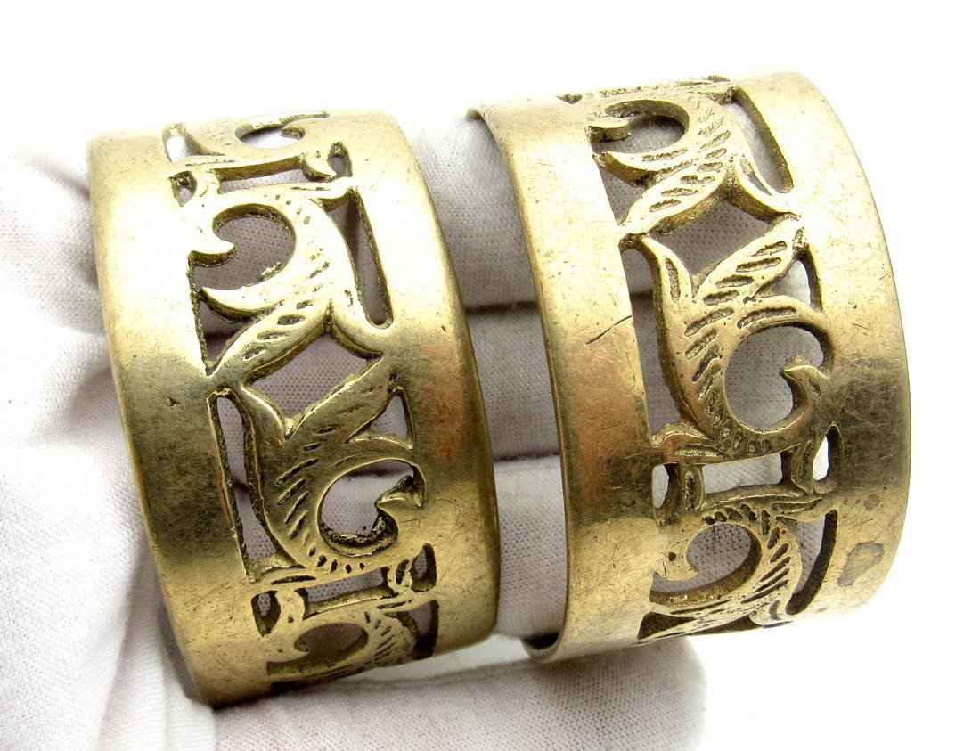 Pair of Bedouin Yemeni Wide Bracelets - 4