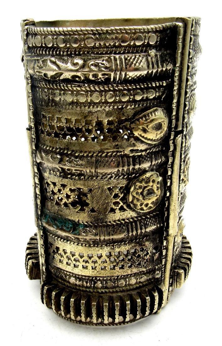 Vintage Bedouin Yemeni Wide Bracelet - 2