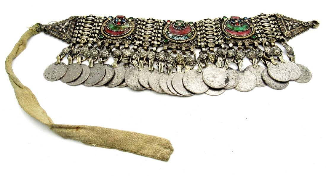 Rare Bedouin Wedding Necklace with Coins