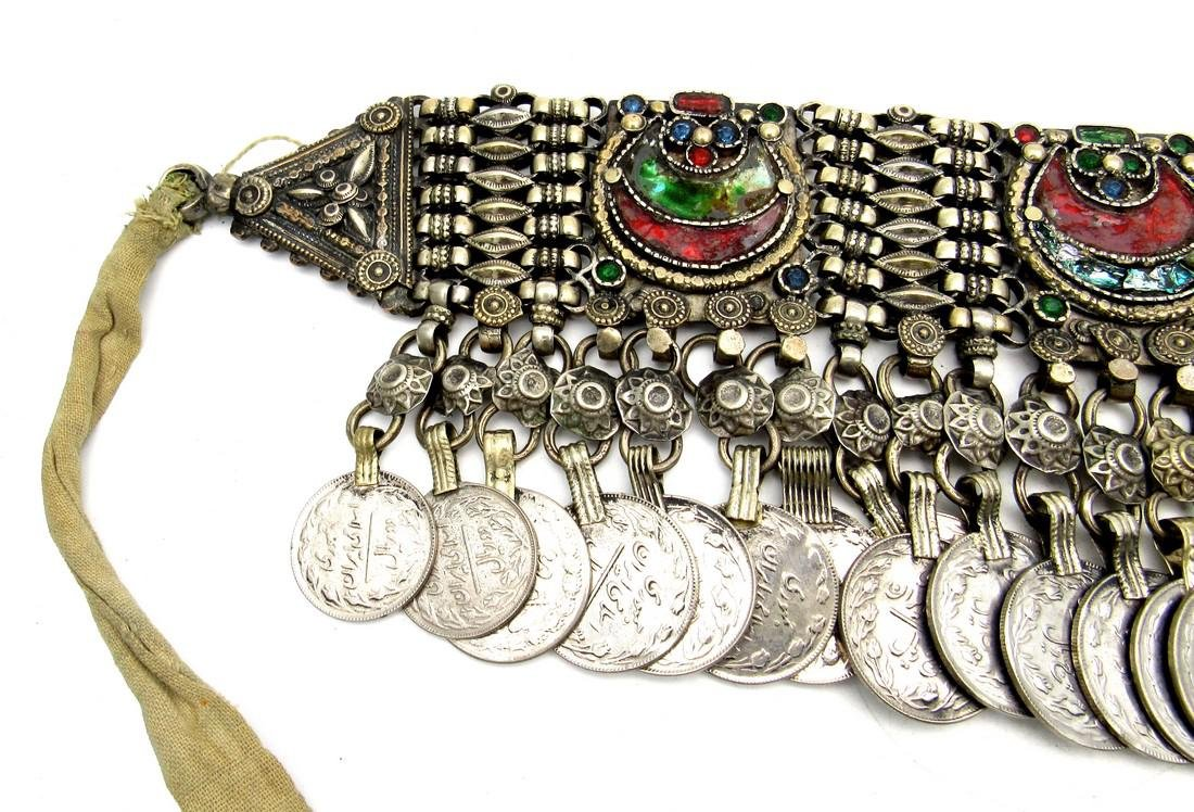 Rare Bedouin Wedding Necklace with Coins - 2