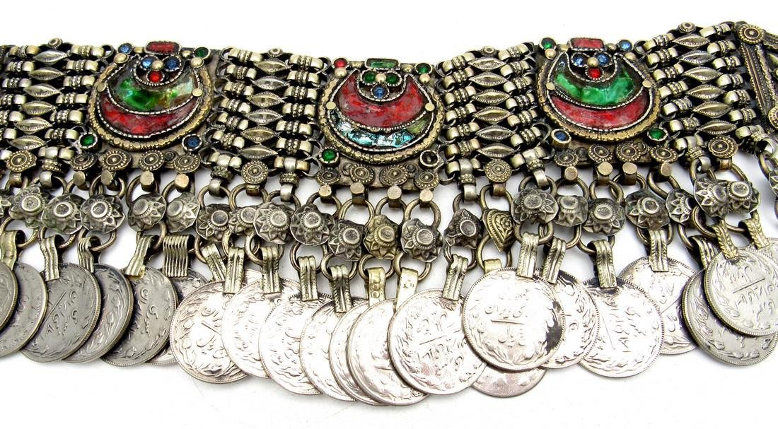 Rare Bedouin Wedding Necklace with Coins - 3