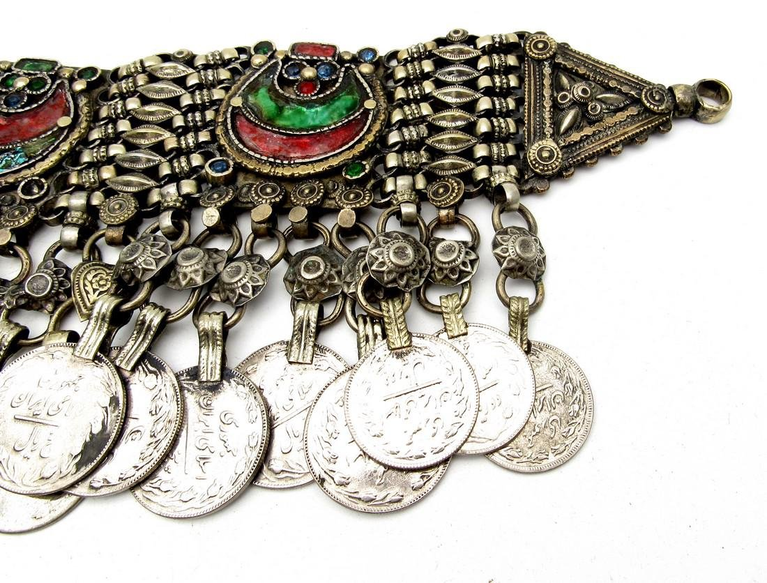 Rare Bedouin Wedding Necklace with Coins - 4