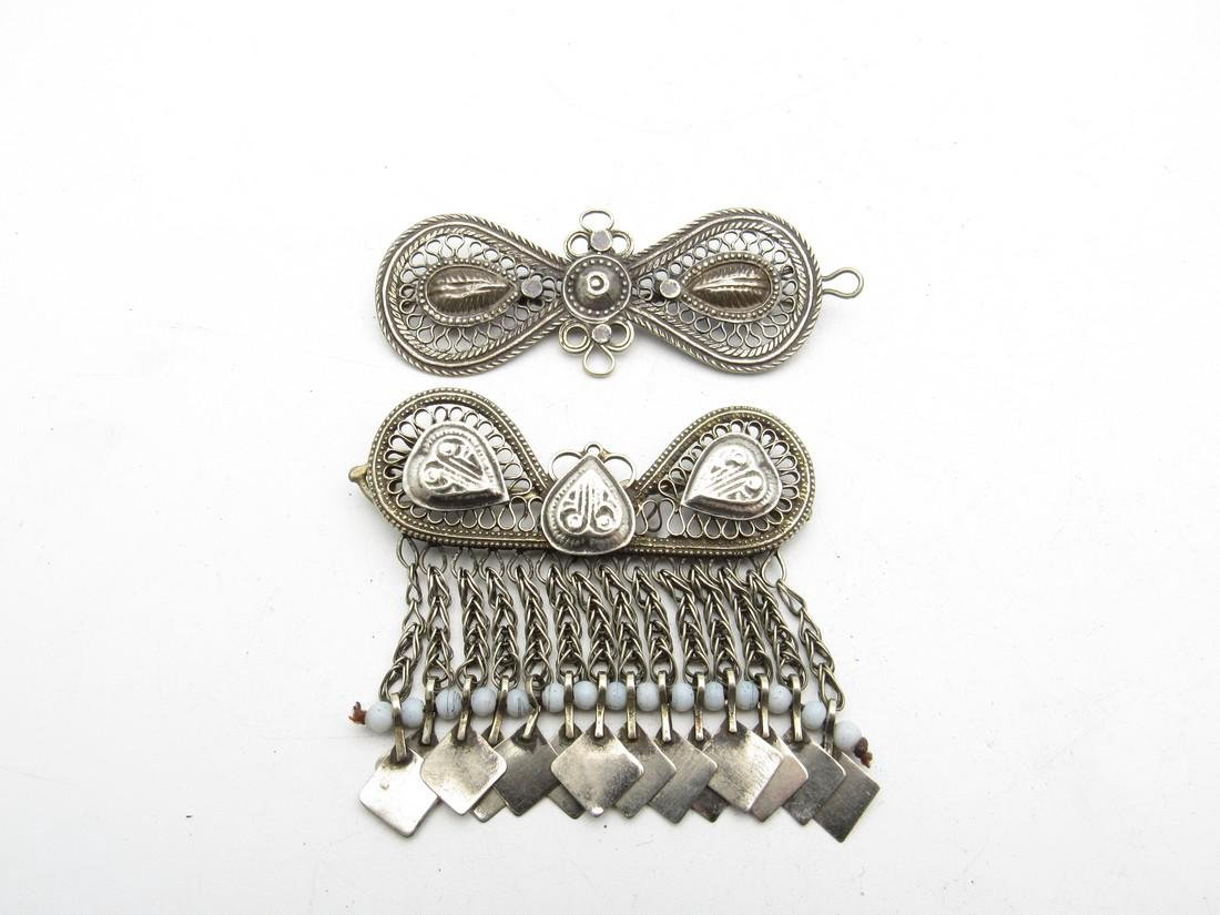 Pair of Bedouin Yemeni Filigree Brooches.