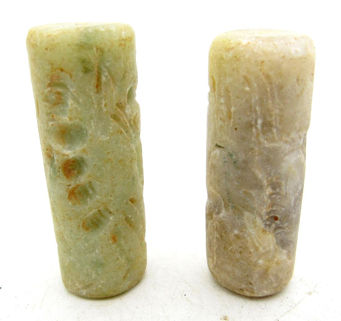 Pair of Middle Eastern Tribal Cylinder Seals