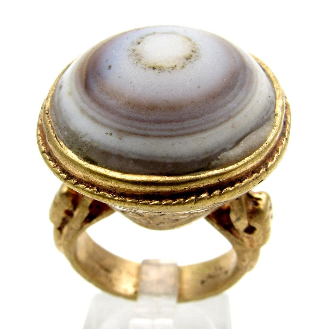 Middle Eastern Ring with Large Agate Stone
