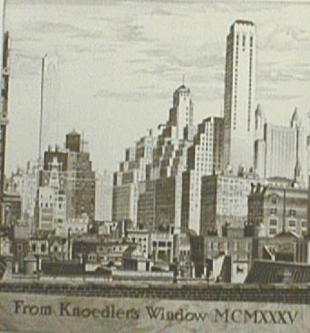 Arms, John Taylor Etching, 1935 From Knoedler's Window