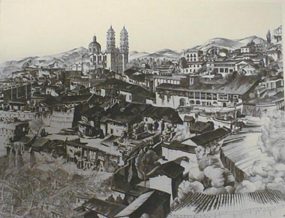 Arms, John Taylor Etching , 1946 Light and Shade Taxco