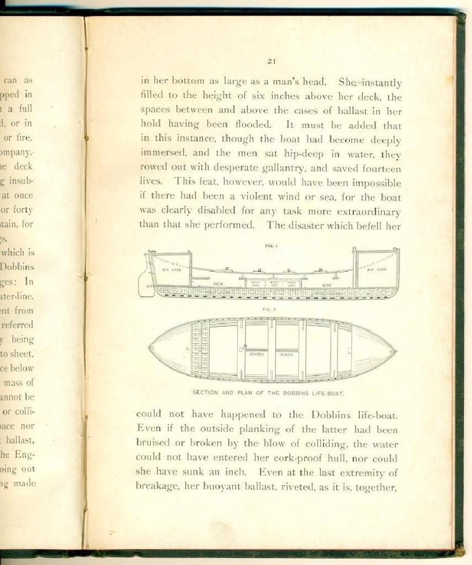1886 David Porter Dobbins Life Boat US Life Saving Book - 5