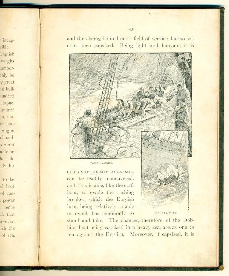 1886 David Porter Dobbins Life Boat US Life Saving Book - 6