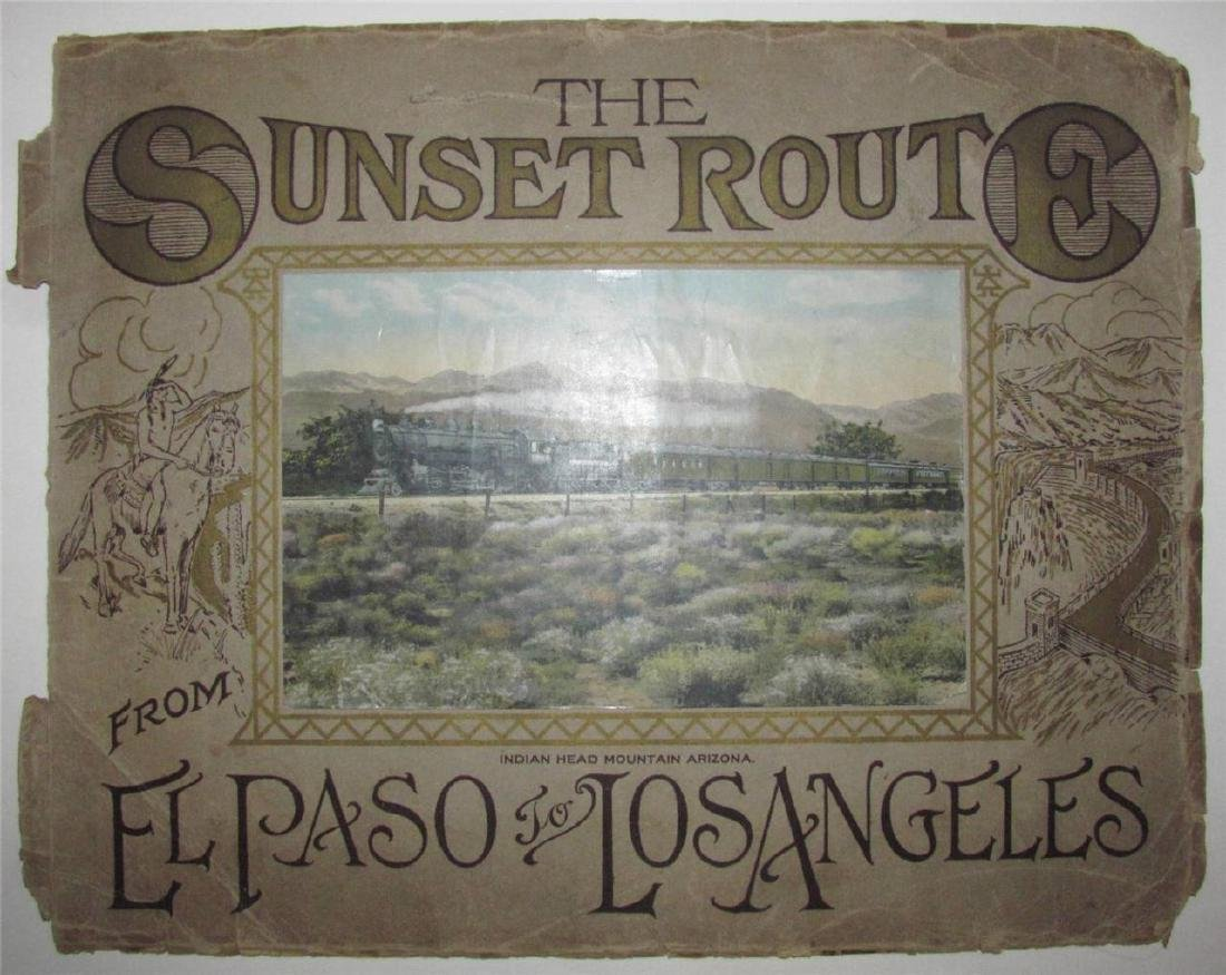 1900 Sunset Route Scenic El Paso - La Color Photo Album