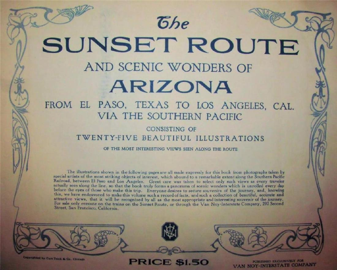 1900 Sunset Route Scenic El Paso - La Color Photo Album - 2