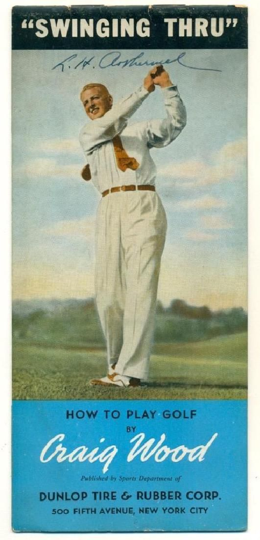 1930 Instructional How to Play Golf Craig Wood Dunlop