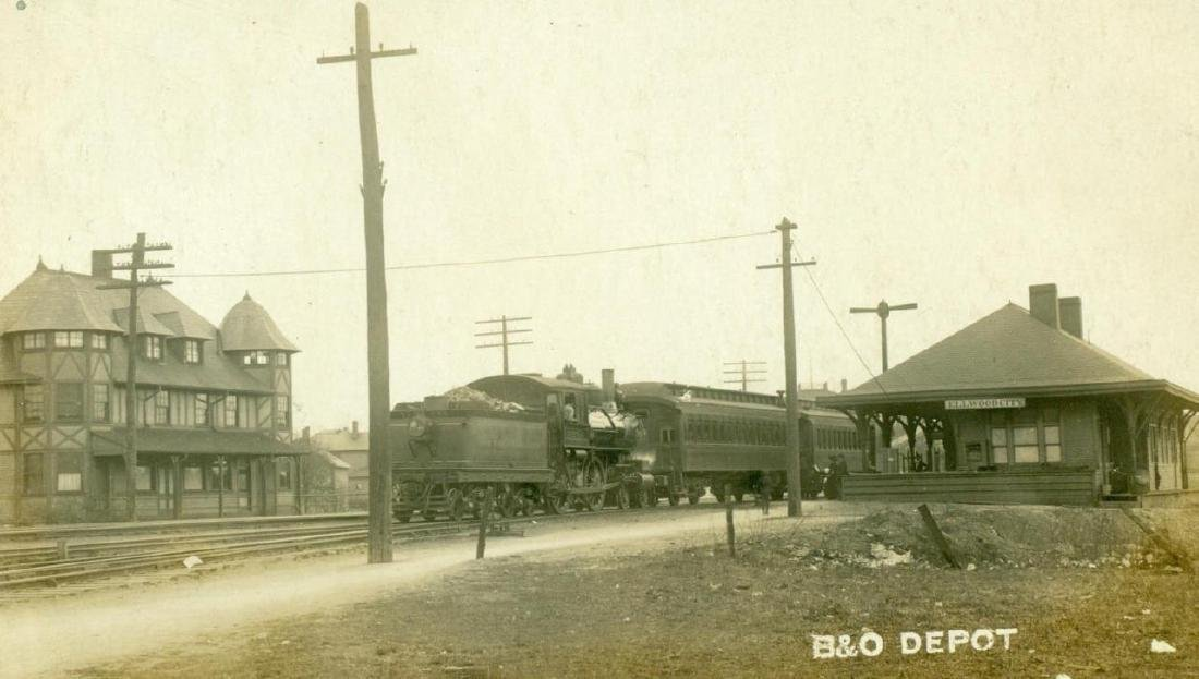 1910 Ellwood City Pennsylvania Railroad Depot