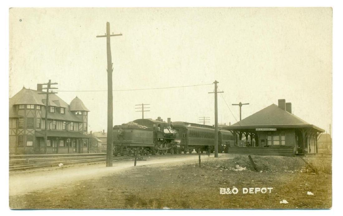 1910 Ellwood City Pennsylvania Railroad Depot - 2