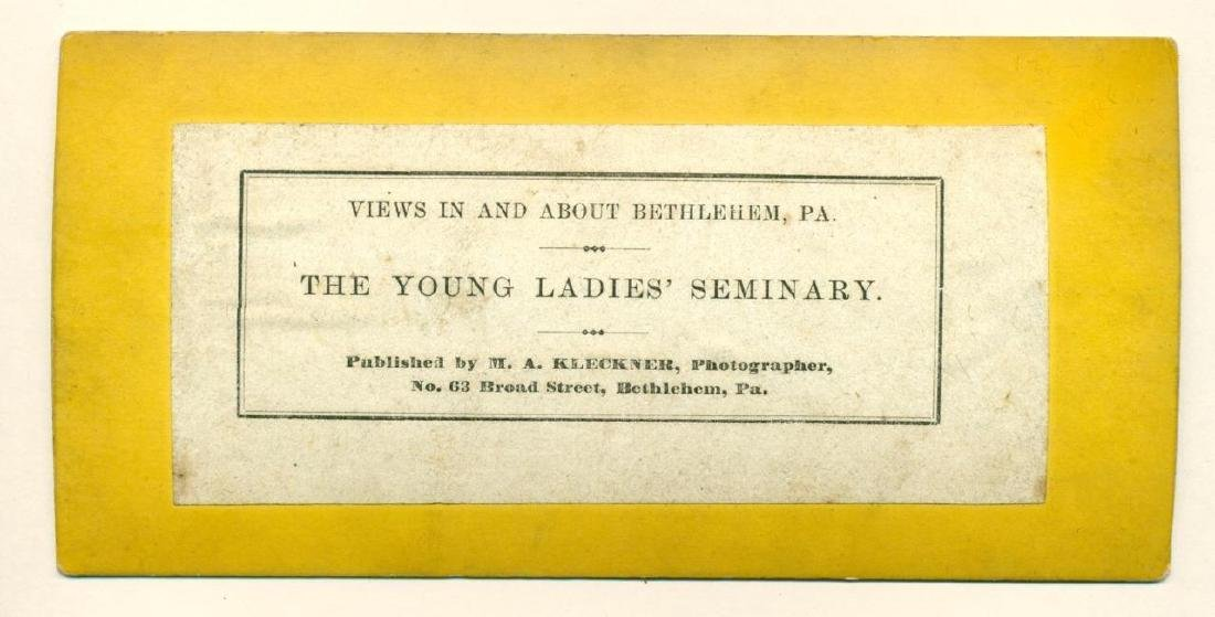 1870 Moravian Young Ladies Seminary at Bethlehem - 3