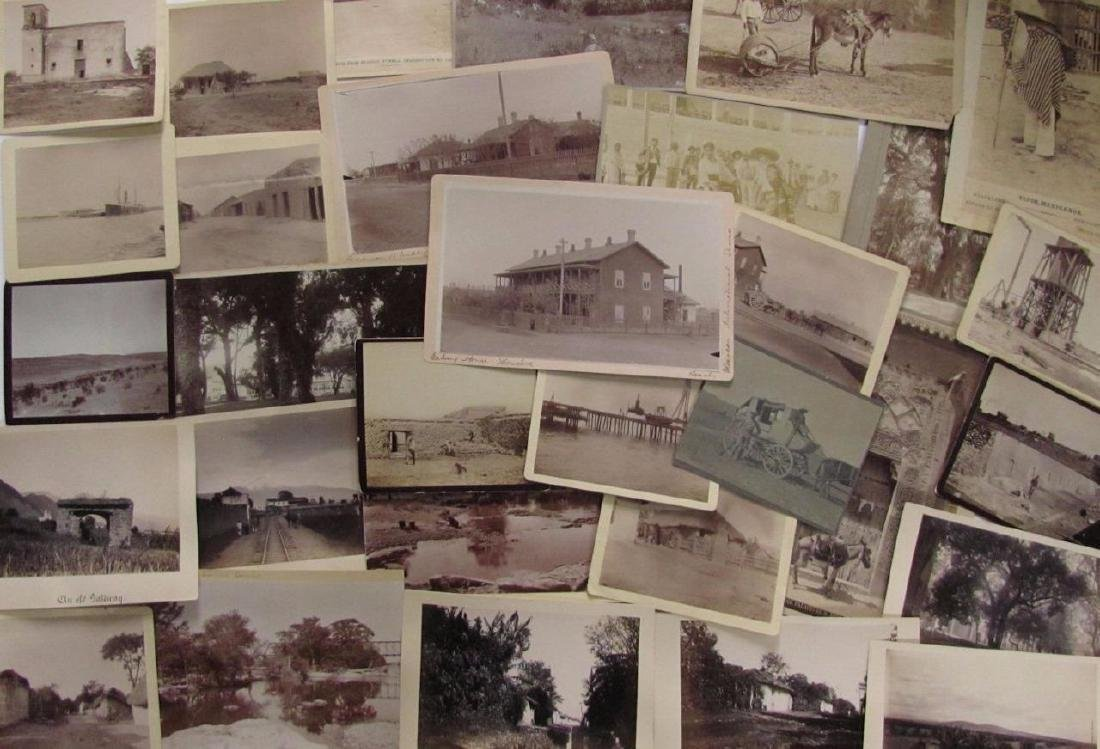 Lot of 31 1890 Mexico Sabinas River Monclova Photos